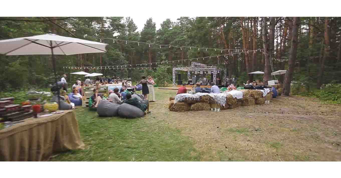 Backstage wedding in Forest